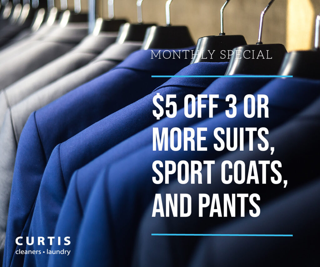 $5 off 3 or More Suits, Sport Coats, and Pants