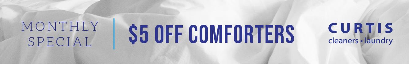 $5 Off Comforters