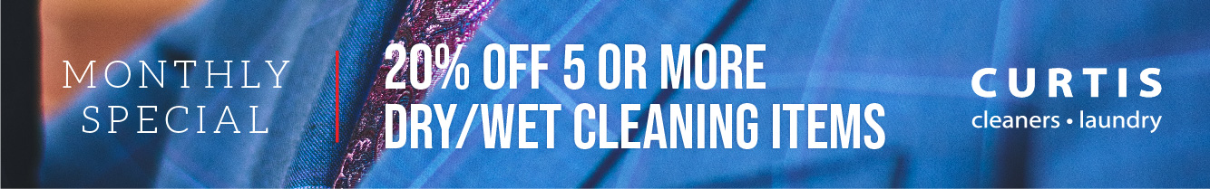 20% off 5 or more wet/dry cleaning items